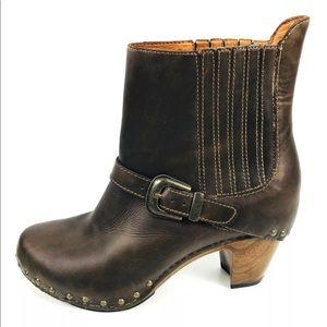 Dansko Rhianna Ankle Boots Heeled Studded Moto